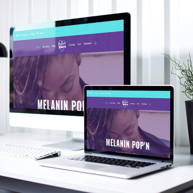 melanin pop'n laptop & desktop portfolio