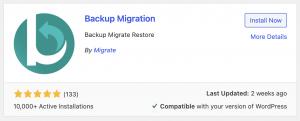 Backup Migration Plugin